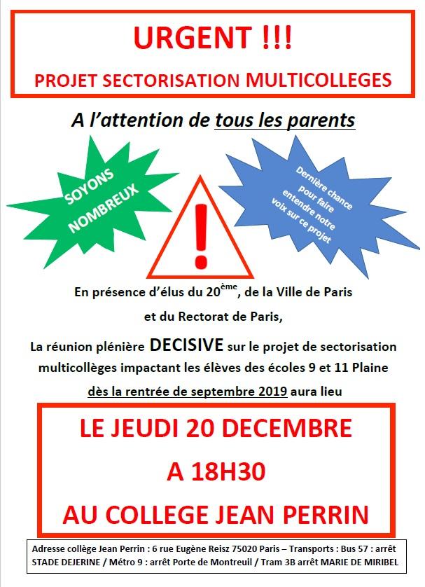 FCPE Plaine - reunion info multicollege du 20122018